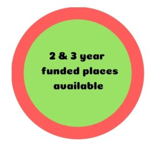 2 & 3 year funded places red-green
